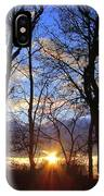 Blue Skies And Golden Sun IPhone Case