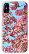 Blue Sky Floral Art Print Pink Dogwood Tree Flowers Baslee Troutman IPhone Case