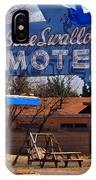 Blue Swallow Motel On Route 66 IPhone Case