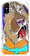 Blue Tic Hound Colorful IPhone Case