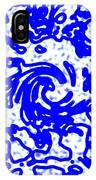 Blue Tornado IPhone Case