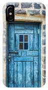 Blue Traditional Door IPhone Case