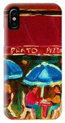 Blue Umbrellas IPhone Case