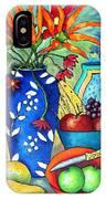 Blue Vase With Orange Flowers IPhone Case