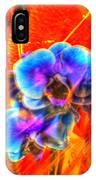 Blue Velvet Orchids IPhone Case
