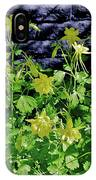 Blue Wall Yellow Columbine IPhone Case