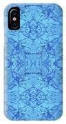 Blue Water Batik Tiled IPhone Case