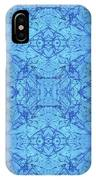 Blue Water Batik Tiled IPhone Case