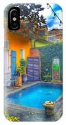 Blue Water Courtyard IPhone Case