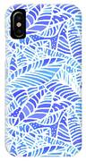 Blue Water Leaves IPhone Case