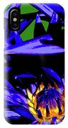 Blue Water Lily Iv IPhone Case