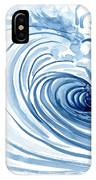 Blue Wave Modern Loose Curling Wave IPhone Case