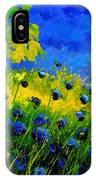 Blue Wild Flowers IPhone Case
