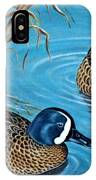 Blue-winged Teals IPhone Case