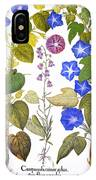 Bluebell And Morning Glory IPhone Case