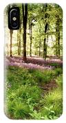 Bluebell Woods With Birds Flocking  IPhone Case