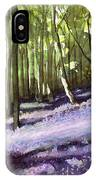 Bluebells At Grimescar Wood IPhone Case