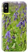 Bluebells In Judy Woods IPhone Case