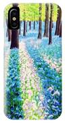 Bluebells In The Woodlands IPhone Case
