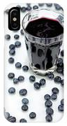 Blueberries And Blueberry Juice IPhone Case