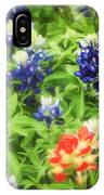 Bluebonnet Bouquet IPhone Case