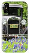 Bluebonnets And Fords IPhone Case