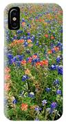 Bluebonnets And Paintbrushes 3 - Texas IPhone Case