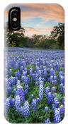 Bluebonnets On A Spring Evening 403-1 IPhone Case