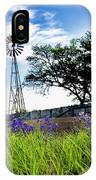 Bluebonnets With Windmill IPhone Case