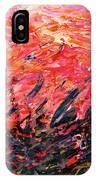 Bluegrass Sunrise - Crimson B-right IPhone Case