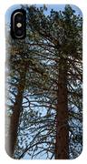 Bluff Lake Ca Through The Trees 3 IPhone Case