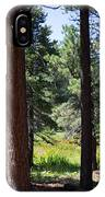 Bluff Lake Ca Through The Trees 7 IPhone Case