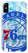 bluish backgroud for Philadelphia basket IPhone Case