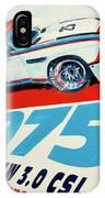 Bmw 3.0 Csl Sebring 1975 Peterson Redman IPhone Case
