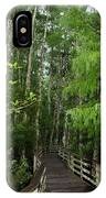 Boardwalk Through The Bald Cypress Strand IPhone Case
