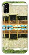 Boat House At Verona Park  IPhone Case