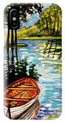 Boat On The Bayou IPhone Case