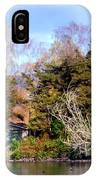 Boat Shed On The Waikato River IPhone Case