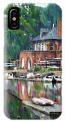 Boathouse Row In Philadelphia IPhone Case