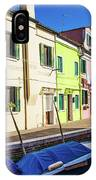 Boats In Burano IPhone Case