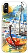 Boats In Tavira In Portugal 02 IPhone Case