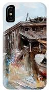 Boats In The Slough IPhone Case