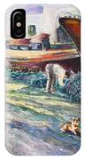 Boats Yard In Villajoyosa Spain IPhone Case