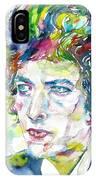 Bob Dylan - Watercolor Portrait.19 IPhone Case