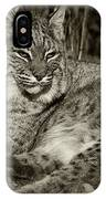 Bobcat In Black And White IPhone Case