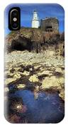Bob's Cave At Mumbles Lighthouse IPhone Case