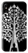 Bodhi Tree_iv_gold05_greyscale IPhone Case
