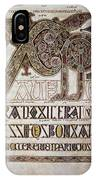 Book Of Lindisfarne Initial IPhone Case
