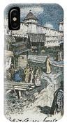 Book Shop On The Bridge Spassky In The Xvii Century 1922 Apollinaris M Vasnetsov IPhone Case