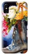 Boot Bouquet IPhone Case